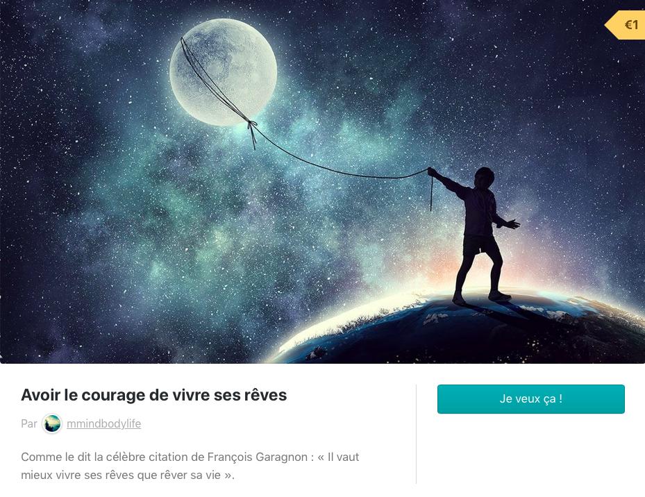 Ebook : Avoir le courage de vivre ses rêves